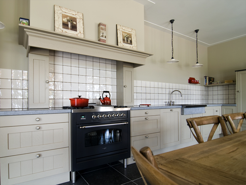Keuken massief eiken met groef